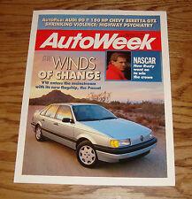 1990 Volkswagen VW Passat Autoweek Foldout Sales Brochure 90