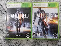 Lot of 2 Xbox 360 Games BATTLEFIELD 3 & BATTLEFIELD 4 - FREE SHIPPING
