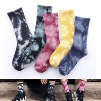 Tie Dye Cotton Socks Hip Hop Couples Long Socks Harajuku Casual Sports Socks~