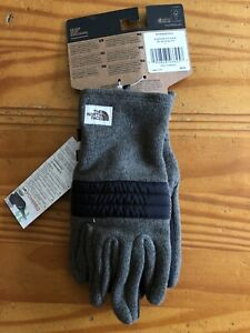 The North Face Mens Gordon Lyons Etip Gloves Size Large Taupe Green Plaid NWT