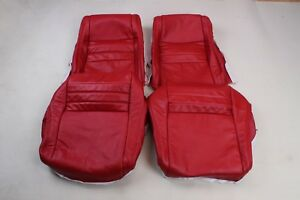 Custom Made 1979-1982 Corvette Real Leather Seat Covers RED