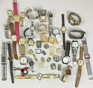 Vintage Watch Wristwatch Job Lot Men's Ladies Parts Vintage Mickey Mouse 3 LBS