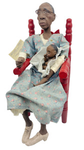 Daddy's Long Legs OMA GREEN & BABY JESSE Dolls Red Chair Karen Germany COA USA