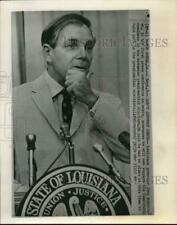 1968 Press Photo Governor John McKeithen speaks at Baton Rouge press conference