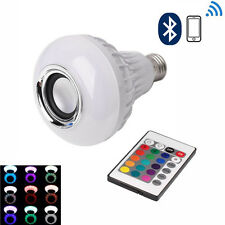 LED RGB Color Bulb Light E27 Bluetooth Control Music Speaker with Remote Control