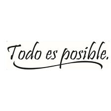 Spanish Inspiring Quotes Wall Sticker Home Decor Bedroom Kids Wall Decal