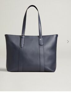Dunhill Tote Bag Hampstead East West 100% Leather BNWT Navy RRP £995