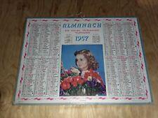 calendrier , almanach des postes 1957 - fraicheur