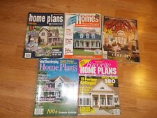 LOT OF 5  ASSORTED HOME BUILDING PLANS MAGAZINES FROM 1998 - 2001