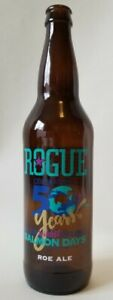 ROGUE Roe Ale 1 Pint 6oz Beer Bottle Empty RARE Issaquah Salmon Days 50th Anniv