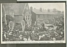 QWI 1905 Postcard, Funeral of Murder Victim Miss Mary Money, Watford Cemetery