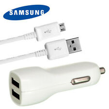 2.1A Dual Car Charger + OEM Micro USB Cable for Galaxy S4 S 4 Active S4 Mini New
