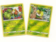 RARE LILLIGANT & PETILIL - 2 EVO Pokemon Cards-GUARDIANS RISING- REV HOLO-MINT