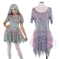 Halloween Bloody Stained Ladies Zombie Dress Costume Fancy Dress Cosplay