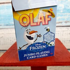 Disney Frozen Colorful Jumbo Playing Cards By Cardinal Inc Ages 4+ USA Seller