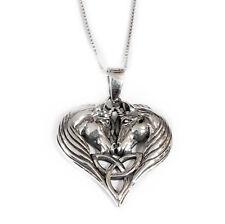 NUOVO Argento Sterling 925 Unicorno Collana con Pendente Cuore in confezione regalo Lisa Parker