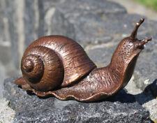 Bronzeskulptur kleine Schnecke Dekoration für Haus und Garten