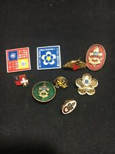 Lot 9 RARE Vintage 60s 70s 1971 XIII 13th ? Asian World Jamboree Boy Scout Pins