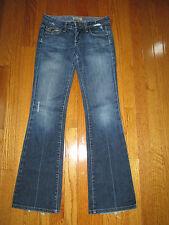 Paige Denim Womens Size 25x31 Fairfax Leather Trim Bootcut Jeans