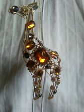 Jeweled North Pole Reindeer Gold Ornament Beautiful Piece!
