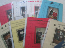 Lot of 8 Uniquely Yours Booklets and Pattern Disks for Knitting Machines