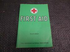 Old Vtg 1933/1957 AMERICAN NATIONAL RED CROSS FIRST AID BOOK Guide 4th Edition