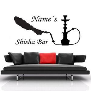 Wandtattoo Shisha Bar Mit Name Wandaufkleber