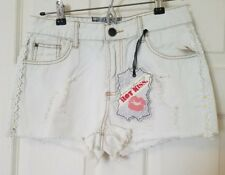 Hot Kiss - Juniors Distressed Shorts with Daisies - 9