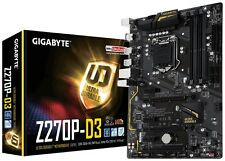 NEW Gigabyte GA-Z270P-D3 Motherboard CPU i3 i5 i7 LGA1151 Intel DDR4 HDMI USB3.1