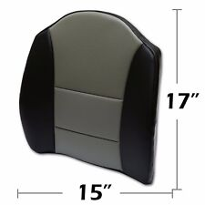 """BIG SIZE 15""""X17"""" S.LEATHER LUMBAR SUPPORT BACK CUSHION ALL PURPOSE BLACK/GREY"""