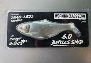"Working Class Zero WCZ Battles Shad 6"" 6 Inch Soft Swimbait Fishing Lure - Blue"
