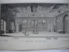 Gallerie Bilder-Saal Wien Belvedere Orig Kupferstich Salomon Kleiner 1730