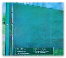 Zaunsichtschutz Sichtschutz Balkonsichtschutz 5 x 1 m + Kordel 24 m