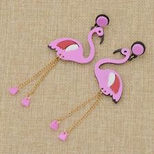 1Pair Flamingo Acrylic Pendant Earring Ear Stud Jewelry Women Fashion Decor Gift
