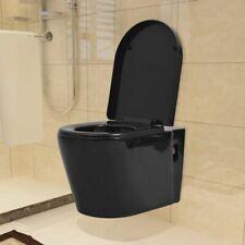 Vidaxl WC sospeso in ceramica Nera Prodotti idraulici