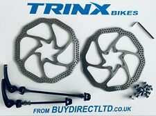 Bicycle Avid 160 brake disc rotor with 12 bolts plus front and rear spindles NEW