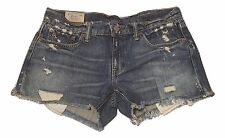 "POLO Ralph Lauren ""AUTHENTIC DUNGAREES"" Denim Stonewash Cut-Off Shorts Size 27"
