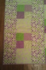 Purple/Green Buttterfly Chenille baby quilt 31x 39 -**CLEARANCE**FREE SHIPPING!!
