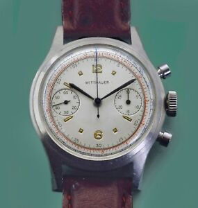 Vintage 50's LONGINES WITTNAUER Original Dial Chronograph w/ Box Venus 188