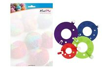 KnitPro Pompon Maker Set, 4 Größen einfach selbermachen, 8-tlg. Set, Art. 10871