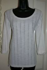 NEXT NWT White Ladder Crochet Lace Thin Sweater Jumper Top Scoop Sheer 8 10  NEW
