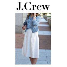 J CREW Midi Skirt Ornate Lace sz 8 White A Line Full E9057 *GORGEOUS* NEW NWT