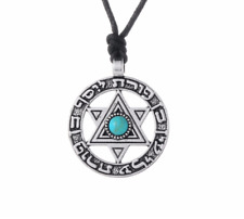 Of David Jewish Blue Style Pendant Mens Boys Unisex Corded Necklace With Star
