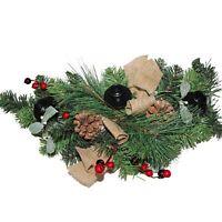 Premier Christmas Table Centrepiece Decoration 60cm Hessian Bow DF168145