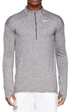 Nike Running Dri-FIT Element Half-Zip Sweat In Grey 857820-021 NWT