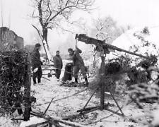 1945 WW2 Ardennes Battle Of The Bulge M4 Browning Machine Gun WWII Photo FL149