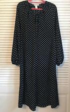 NEW H&M Black White Polka Dot Dress sz.4
