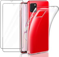For Samsung Galaxy Note10 Lite Case Clear Gel Cover & Glass Screen Protector