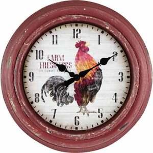 La Crosse Clock Rooster Wall Clock 404-3630  - 1 Each