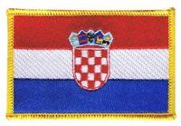 Kroatien Aufnäher Flaggen Fahnen Patch Aufbügler 8x6cm